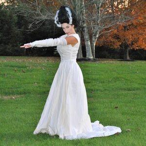 Haloween costume Wedding Dress Bride Frankenstein